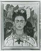 view Self-Portrait with Thorn Necklace and Hummingbird, [painting] / (photographed by Peter A. Juley & Son) digital asset number 1