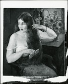 view Girl Combing Her Hair [painting] / (photographed by Peter A. Juley & Son) digital asset number 1