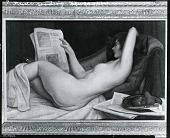 view Relaxation, Nude Reading A Newspaper [painting] / (photographed by Peter A. Juley & Son) digital asset number 1