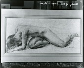 """view Study for U.S. Department of Justice mural, """"Defeat of Justice"""" [drawing] / (photographed by Peter A. Juley & Son) digital asset number 1"""