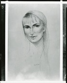 view Head of a Woman [drawing] / (photographed by Peter A. Juley & Son) digital asset number 1