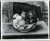 view Still Life with Bowl of Fruit [painting] / (photographed by Peter A. Juley & Son) digital asset number 1