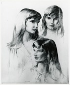 view Studies of Josephine [drawing] / (photographed by Peter A. Juley & Son) digital asset number 1