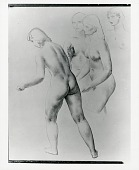 view Figure study for Worcester Memorial Auditorium mural [drawing] / (photographed by Peter A. Juley & Son) digital asset number 1