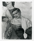 view Worcester Memorial Auditorium Mural, Main Wall (detail) [painting] / (photographed by Peter A. Juley & Son) digital asset number 1