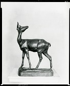 view No Title Given: Deer Looking Up [sculpture] / (photographed by Peter A. Juley & Son) digital asset number 1