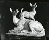 view Red Doe and Fawn [sculpture] / (photographed by Peter A. Juley & Son) digital asset number 1