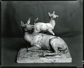 view Doe and Fawn [sculpture] / (photographed by Peter A. Juley & Son) digital asset number 1