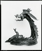 view Peacocks Fighting [sculpture] / (photographed by Peter A. Juley & Son) digital asset number 1