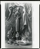 """view Still Life with """"La Nymphae"""" [painting] / (photographed by Peter A. Juley & Son) digital asset number 1"""