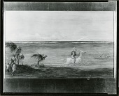 view Figure on Horse Along the Shore [painting] / (photographed by Peter A. Juley & Son) digital asset number 1