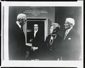 """view Adrian Lamb presenting """"Joseph Smith"""" to the National Portrait Gallery [photograph] / (photographed by Peter A. Juley & Son) digital asset number 1"""