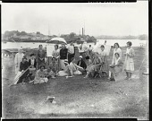 view Ernest Thurn with his class [photograph] / (photographed by Peter A. Juley & Son) digital asset number 1