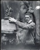 view Frederick MacMonnies in his studio [photograph] / (photographed by Peter A. Juley & Son) digital asset number 1