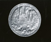 view New York City Distinguished Visitor's Medallion (obverse) [sculpture] / (photographed by Peter A. Juley & Son) digital asset number 1