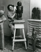 view Marion Walton in her studio [photograph] / (photographed by Peter A. Juley & Son) digital asset number 1