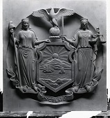 view Seal of New York State [sculpture] / (photographed by Peter A. Juley & Son) digital asset number 1
