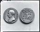 view Model for Elbert H. Gary Portrait Medal (obverse and reverse) [sculpture] / (photographed by Peter A. Juley & Son) digital asset number 1