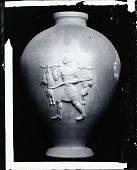 view Four Vases: Indian Hunter Carrying Two Hares [sculpture] / (photographed by Peter A. Juley & Son) digital asset number 1