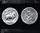 view Model for Jeanne d'Arc Medal (obverse and reverse) [sculpture] / (photographed by Peter A. Juley & Son) digital asset number 1