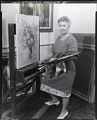 view Mary F. Passailaigue in her studio, Columbus, Georgia [photograph] / (photographed by Peter A. Juley & Son) digital asset number 1