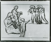 view Study for Return of the Wounded [art work] / (photographed by Peter A. Juley & Son) digital asset number 1