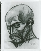 view Study of a Head [drawing] / (photographed by Peter A. Juley & Son) digital asset number 1