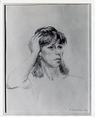 view Female Portrait [drawing] / (photographed by Peter A. Juley & Son) digital asset number 1