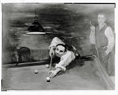 view Bernard Karfoil Playing Pool [painting] / (photographed by Peter A. Juley & Son) digital asset number 1
