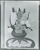 view Spring Flowers with Lace Doily, [painting] / (photographed by Peter A. Juley & Son) digital asset number 1