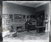view Johann Waldemar de Rehling Quistgaard in his studio [photograph] / (photographed by Peter A. Juley & Son) digital asset number 1