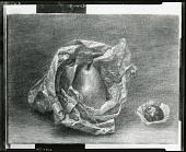 view Pear and Paper Bag [art work] / (photographed by Peter A. Juley & Son) digital asset number 1