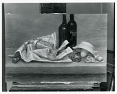 view Still Life with Newspaper and Bottles [painting] / (photographed by Peter A. Juley & Son) digital asset number 1
