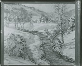 view No Title Given: Winter River Scene [painting] / (photographed by Peter A. Juley & Son) digital asset number 1