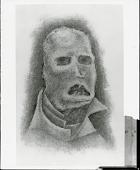 """view """"Capsules encore du néant dans la bouche de l'homme"""" --St. Jean Perse [painting] / (photographed by Peter A. Juley & Son) digital asset number 1"""