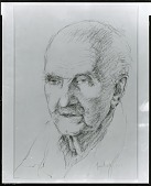 view George Santayana [drawing] / (photographed by Peter A. Juley & Son) digital asset number 1