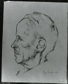 view Allen Tate [drawing] / (photographed by Peter A. Juley & Son) digital asset number 1