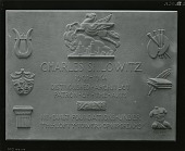 view Charles Shilowitz Commemorative Plaque [sculpture] / (photographed by Peter A. Juley & Son) digital asset number 1