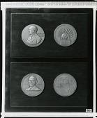 view Group of Two Medals: Charles F. Spencer Award and Allen Drug Company Anniversary Medal [sculpture] / (photographed by Peter A. Juley & Son) digital asset number 1