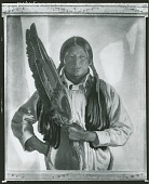 view Taos Brave (Eagle Wing Fan) [painting] / (photographed by Peter A. Juley & Son) digital asset number 1
