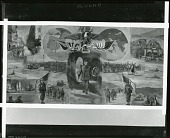 view Eisenhower Museum Mural (unfinished state or study) [painting] / (photographed by Peter A. Juley & Son) digital asset number 1