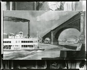 view The Eads Bridge Over the Mississippi at St. Louis [painting] / (photographed by Peter A. Juley & Son) digital asset number 1