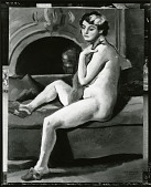 view Nude - Red Scarf [painting] / (photographed by Peter A. Juley & Son) digital asset number 1