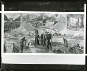 view Eisenhower Museum Mural (study) [painting] / (photographed by Peter A. Juley & Son) digital asset number 1