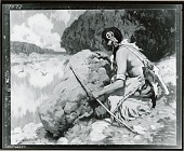 view No Title Given: Indian Hunting [painting] / (photographed by Peter A. Juley & Son) digital asset number 1