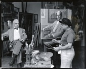 view Robert Brackman at work in his studio with sitter Philip R. Mallory [photograph] / (photographed by Peter A. Juley & Son) digital asset number 1