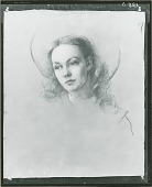 view Jennifer Jones [drawing] / (photographed by Peter A. Juley & Son) digital asset number 1