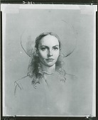 """view Jennifer Jones as """"Jenny"""" [drawing] / (photographed by Peter A. Juley & Son) digital asset number 1"""