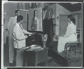 view Robert Brackman at work in his studio with sitter Jennifer Jones [photograph] / (photographed by Peter A. Juley & Son) digital asset number 1