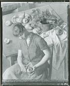 view No Title Given: Woman Peeling an Apple [painting] / (photographed by Peter A. Juley & Son) digital asset number 1